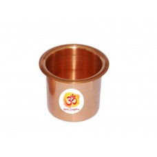 Aum Medium Paanchpatra - Copper Prayer Cup