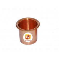 Aum Small Paanchpatra - Copper Prayer Cup