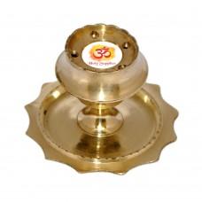 Aum Small Incense Stick Holder Brass Agarbatti Stand